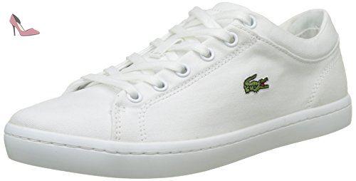 620454e36e10 Lacoste Sport Straightset BL 2, Baskets Basses Femme, Blanc (Wht), 40.5 EU  - Chaussures lacoste (*Partner-Link)