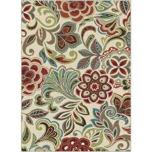 Tayse Rugs, Deco Ivory 7 ft. 10 in. x 10 ft. 3 in. Transitional Area Rug, DCO1025 8x10 at The Home Depot - Mobile