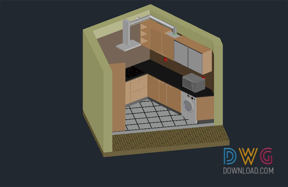 Kitchen d dwg download high quality kitchen d dwg autocad