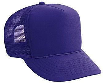 5b3bea1264c SOLID PURPLE MESH Trucker hat mesh hat - Blank Plain Trucker Hats