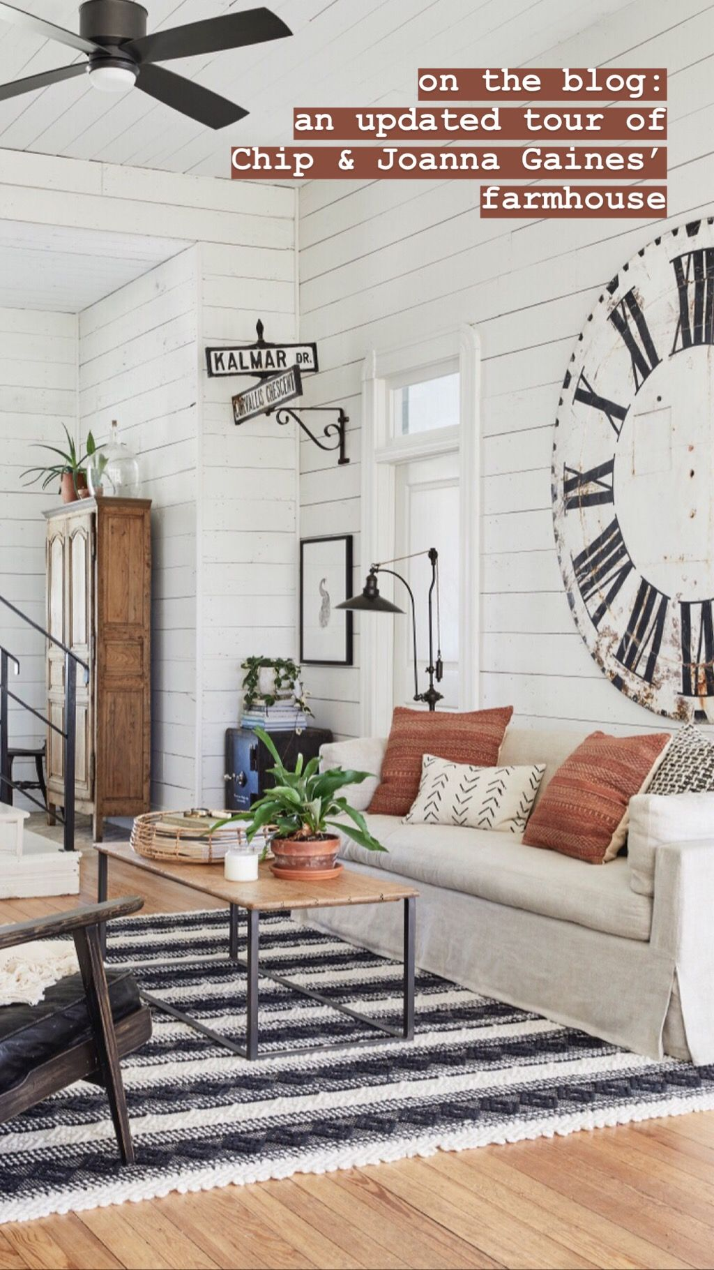 A Look Inside Our Farmhouse Magnolia Joanna Gaines Living Room Living Room Fans Farm House Living Room,Mid Century Modern Entryway Storage Bench