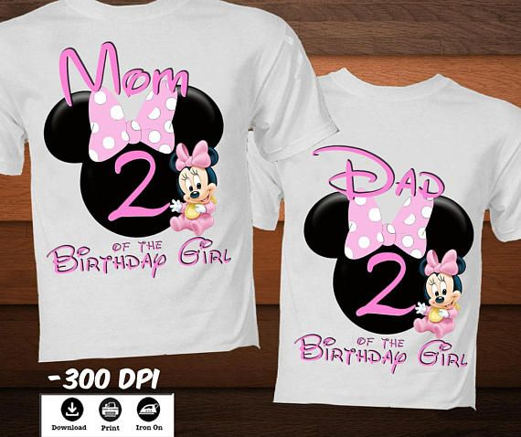 Personalized Little Minnie Mouse Iron On Transfer T Shirt Family Disney Birthday Mom And Dad M