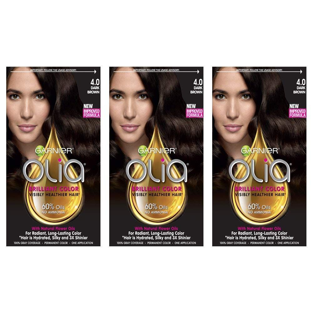 Garnier Hair Color Olia Oil Powered Permanent Hair Color 4 0 Dark Brown 3 Click On The Image For Additional Permanent Hair Color Hair Color Dyed Red Hair