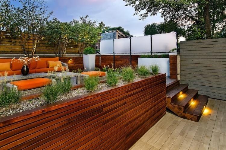 am nagement de jardin et terrasse moderne en 42 photos am nagement de jardin spot led. Black Bedroom Furniture Sets. Home Design Ideas