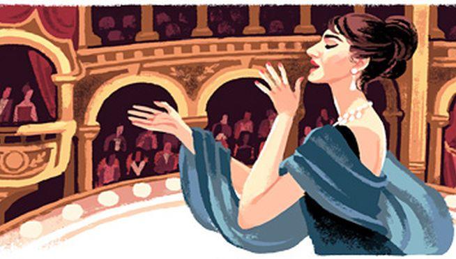 Dibujo de María Callas