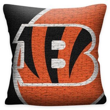 860c0ef1 $14.99 - NFL Cincinnati Bengals Woven Square Throw Pillow - Showcase ...