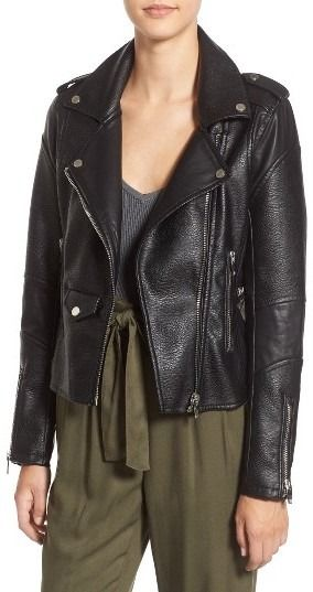 'Easy Rider' Faux Leather Moto Jacket by Blank NYC on ShopStyle.