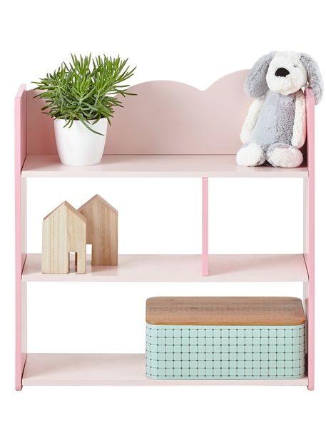 Wandregal für Kinderzimmer - ROSA+WEIß - 4 | DIY | Regal ...