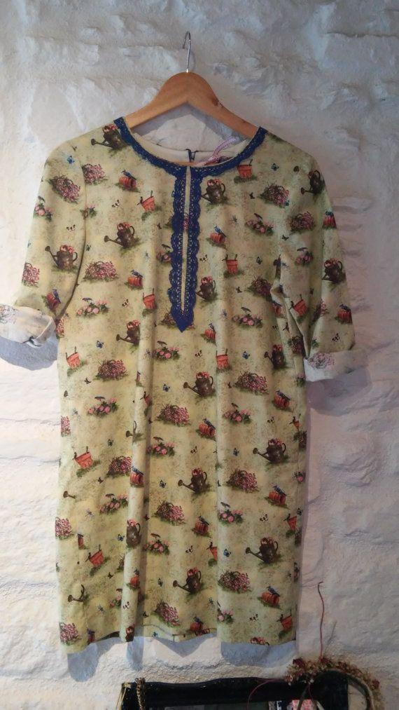 Vestido macetas por locapormi en Etsy