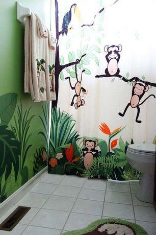 Tropical Kids Bathroom With Kids Bathroom Mainstays Monkey Decorative Bath Collection Bath Rug Monkey