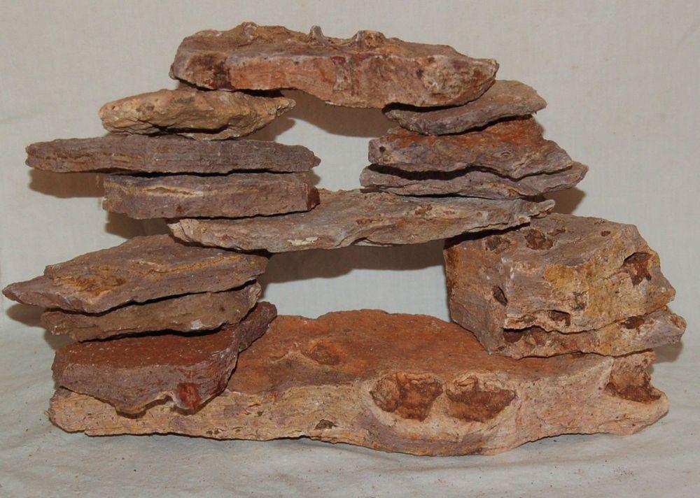 Ledge Stone Aquarium Cave Kit Large Pile Unique Flat Stacking Rocks