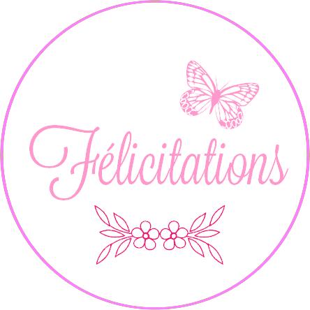 Etiquettes Rondes Felicitations Roses Les Etiquettes Et Tags De Tatalo Carte Felicitation Felicitation Etiquettes Rondes
