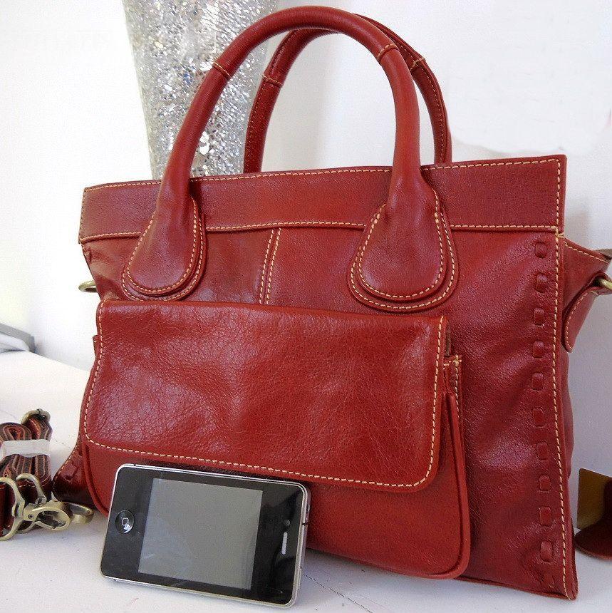 Бордовый кожаный портфель В поисках стиля в мой офисно