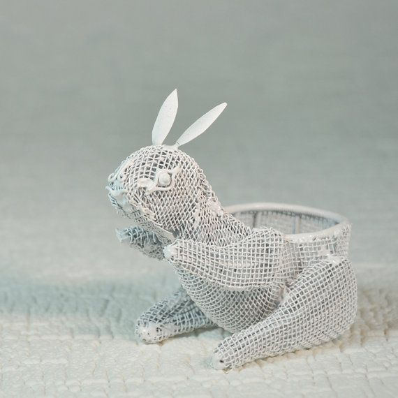 Doll House RABBIT Topiary  PLANT STAND  by SoulfulOfferings, $14.00