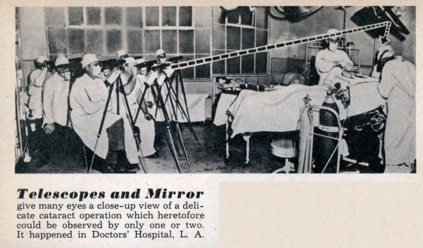 Meekijken bij een operatie... 1958