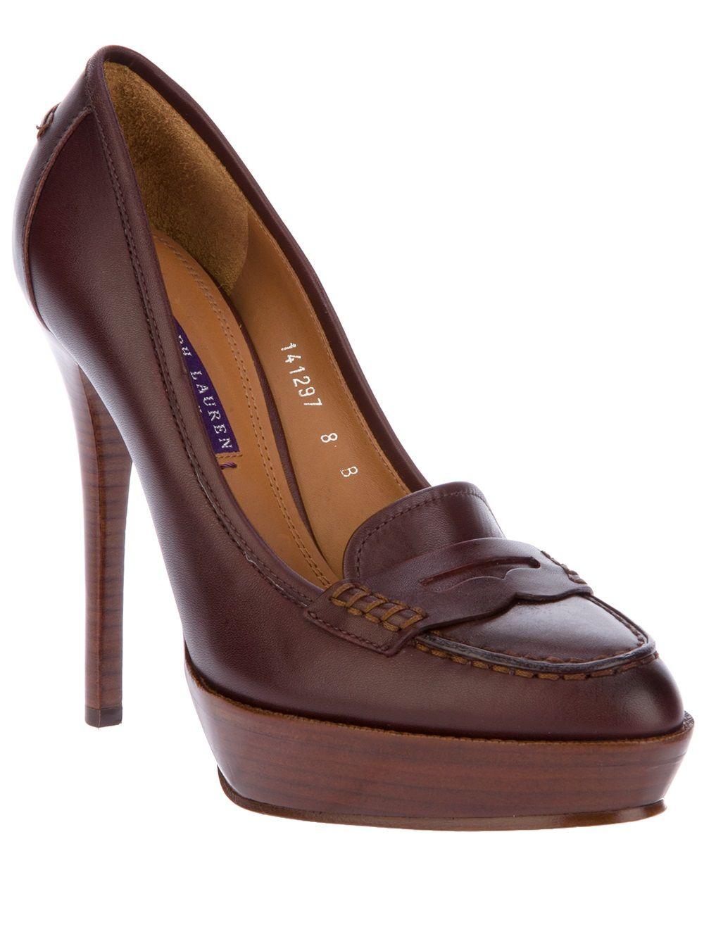 9792ba43da00 RALPH LAUREN Platform loafer