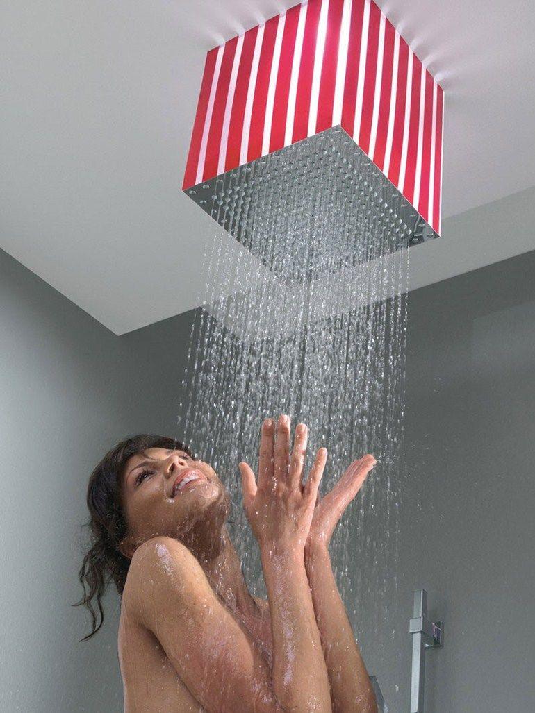 Cabeza de ducha de lluvia con luces integradas LUMIERE - Bossini