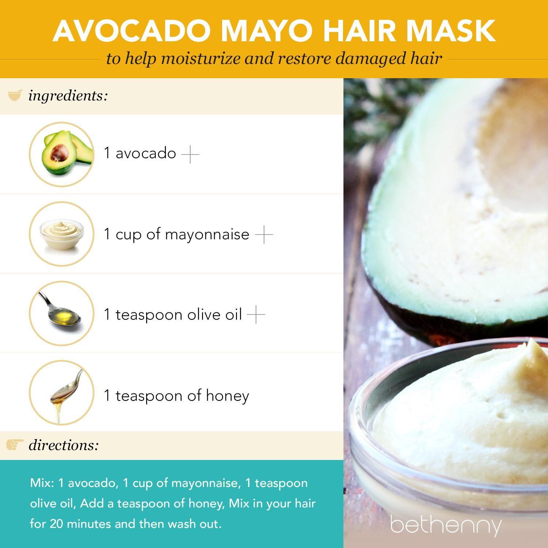 At Home Avocado Mayo Hair Mask Diy Beauty Mayonnaise