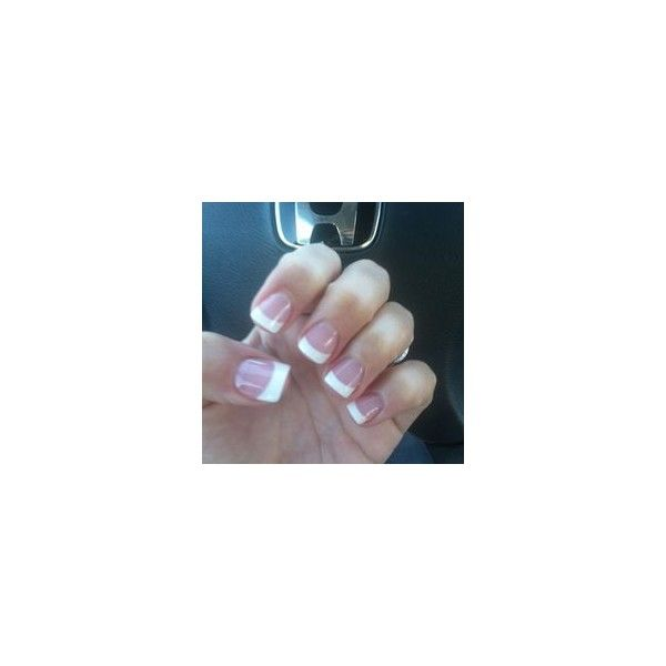 Acrylic Nails simple gallery ❤ liked on Polyvore featuring beauty products, nail care and nail treatments