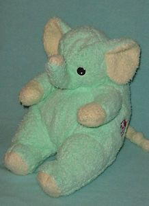 Ty Baby Elephantbaby Green Yellow Elephant Rattle Plush Toy. I have one and  I love this and I always will! I named mine Ella when I was little! b8d3dbfb549