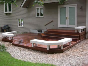 Low Deck With Cascading Stairs U0026 Benches