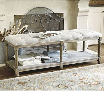 Saverne Tufted Bench   Traditional   Bedroom Benches   Ballard Designs