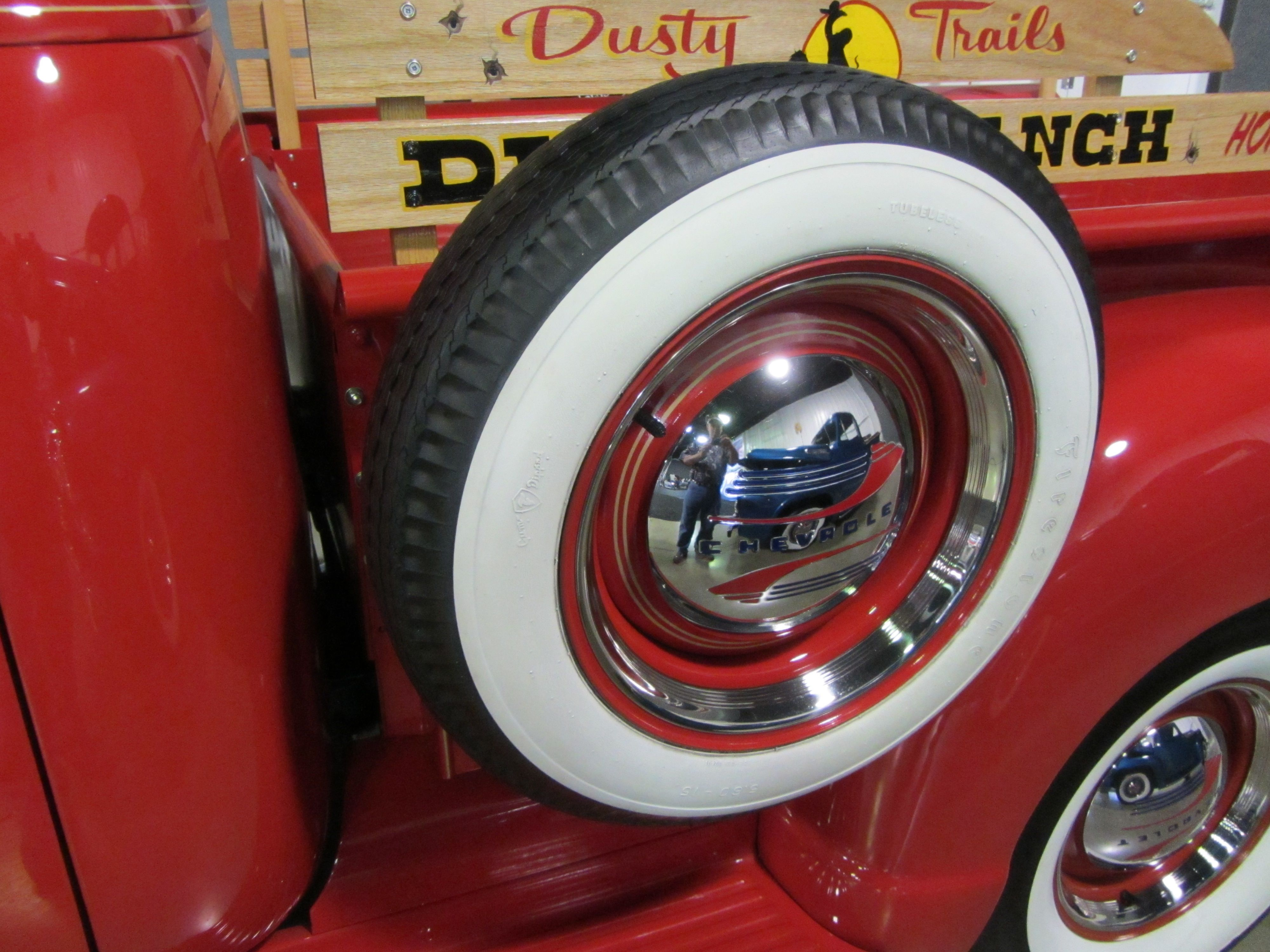 these white wall tires make the chevy truck look so old fashion b