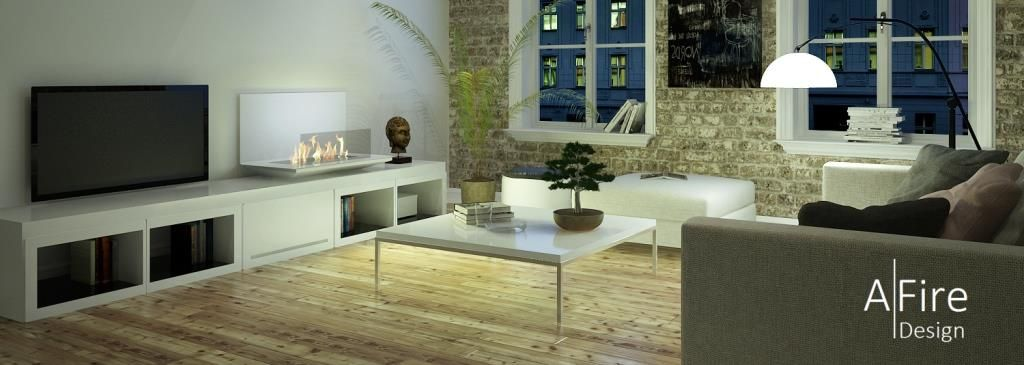 Ethanol Fireplace Insert With Remote Control For Living Room
