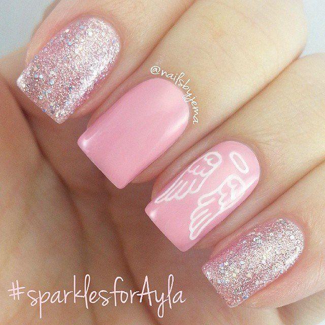 rose angel nails
