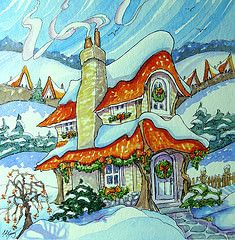 The Holly Jolly Storybook Cottage by Alida Akers