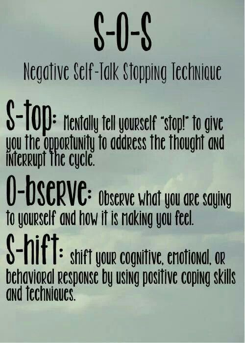How to be more positive: Negative Self Talk Stopping Techniques