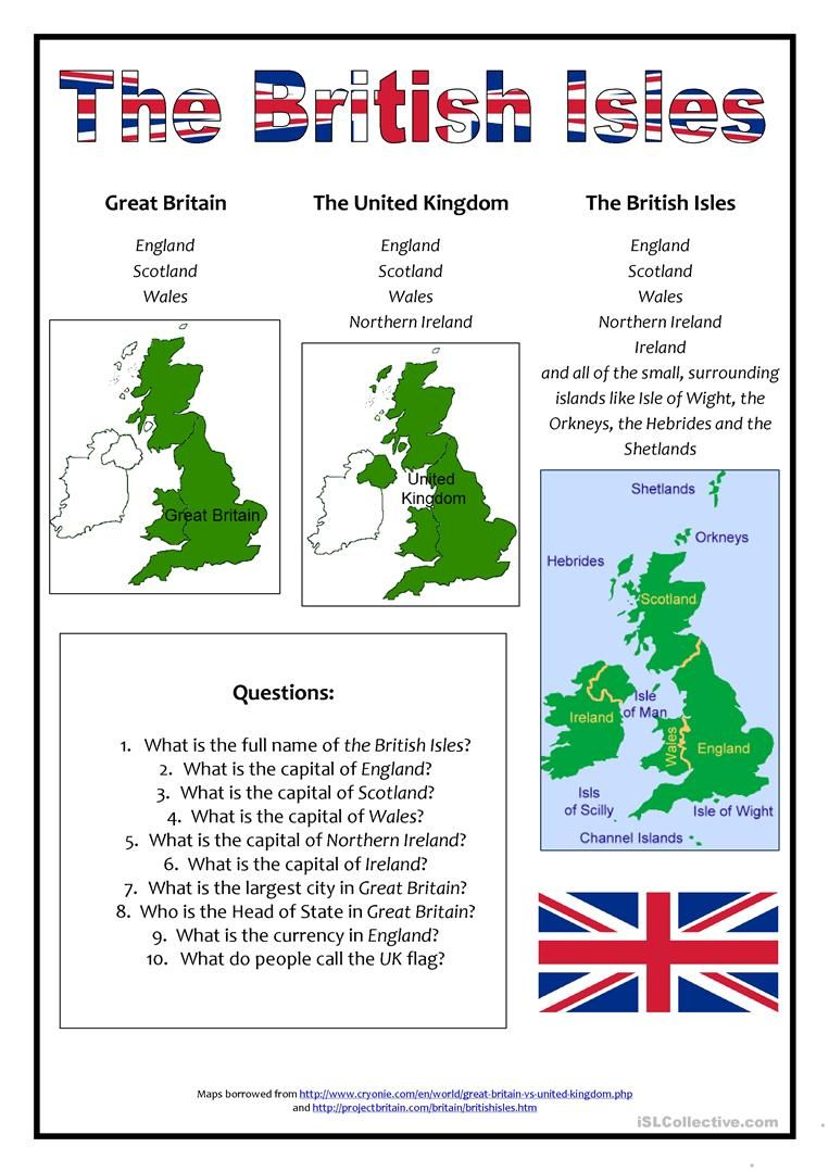 The British Isles worksheet - Free ESL printable worksheets made by teachers #britishisles
