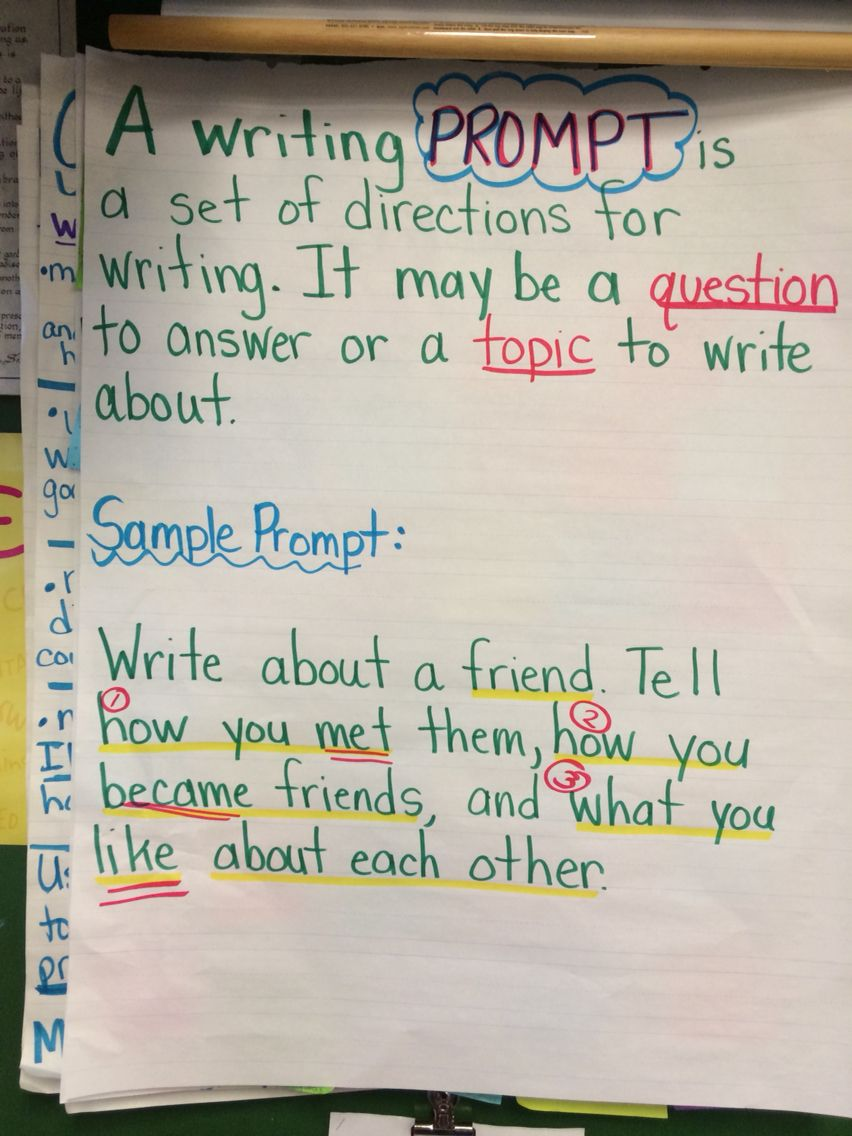 What is a writing prompt?