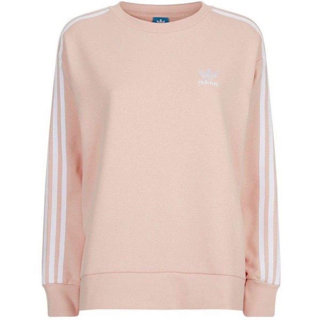 Desprecio Afectar Mutuo  NWT Adidas Original 3 Stripe Crewneck on Mercari | Sweatshirts, Adidas  sweatshirt, Pink crewneck sweatshirt