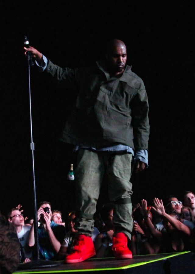 Kanye West Wearing Nike Air Yeezy 2 Red Air Yeezy 2 Air Yeezy Yeezy