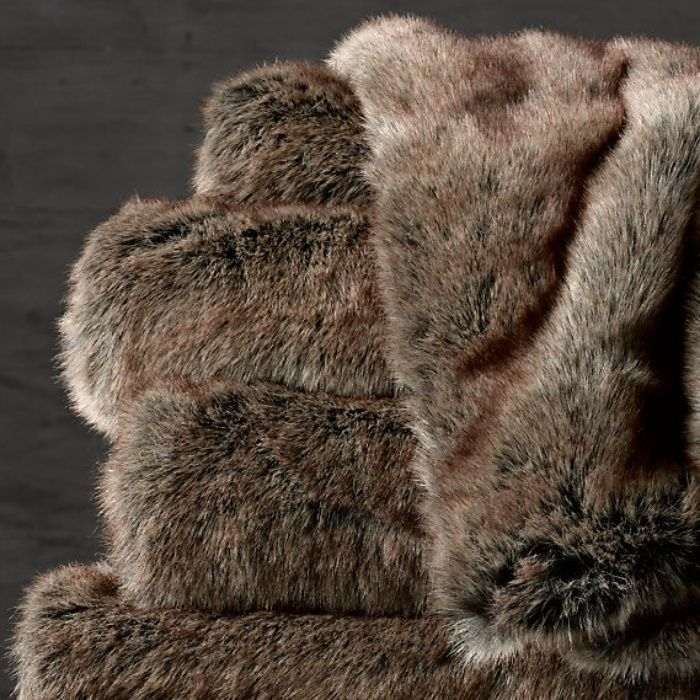 Rank & Style's Talking Top Tens - Jamie Lewin's Ten Essentials: Restoration Hardware Luxe Fur Throw #rankandstyle #talkingtoptens #influencers #inspiration #giftideas https://www.rankandstyle.com/talking-top-10/20141208/jamie-lewin/