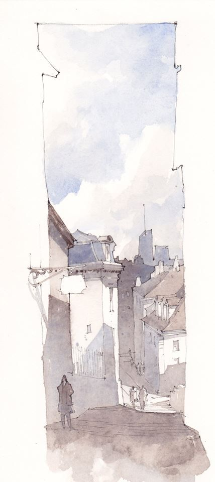 simple architectural sketches. This Is A Simple Sketch Showing The Importance Of Light And Shadow To Create Depth In Drawing. Architectural Sketches