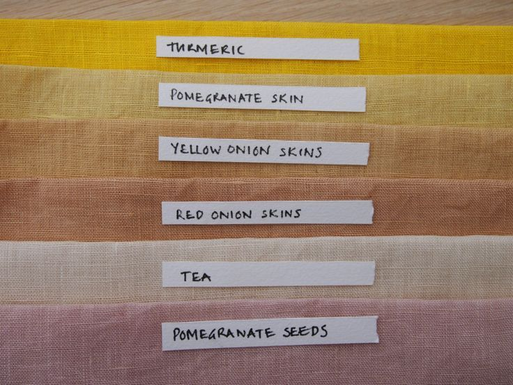naturally dyed fabric from vegetable dyes