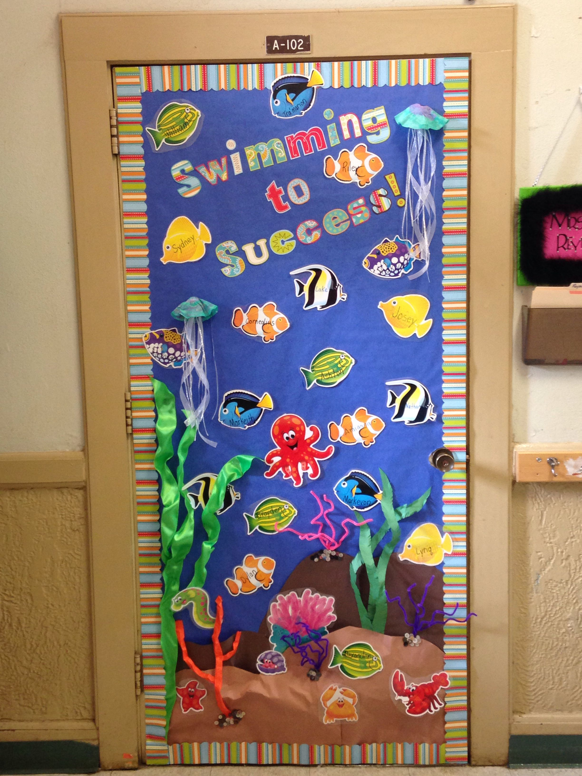 Ocean Themed Classroom Door