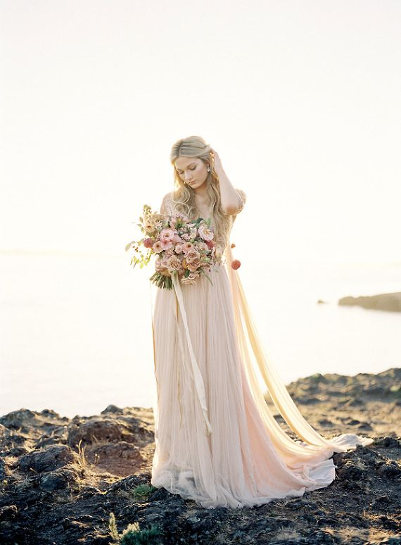 Emily Riggs Bridal, Pink Wedding Gown, California Wedding Photographer | Heather Payne Photography