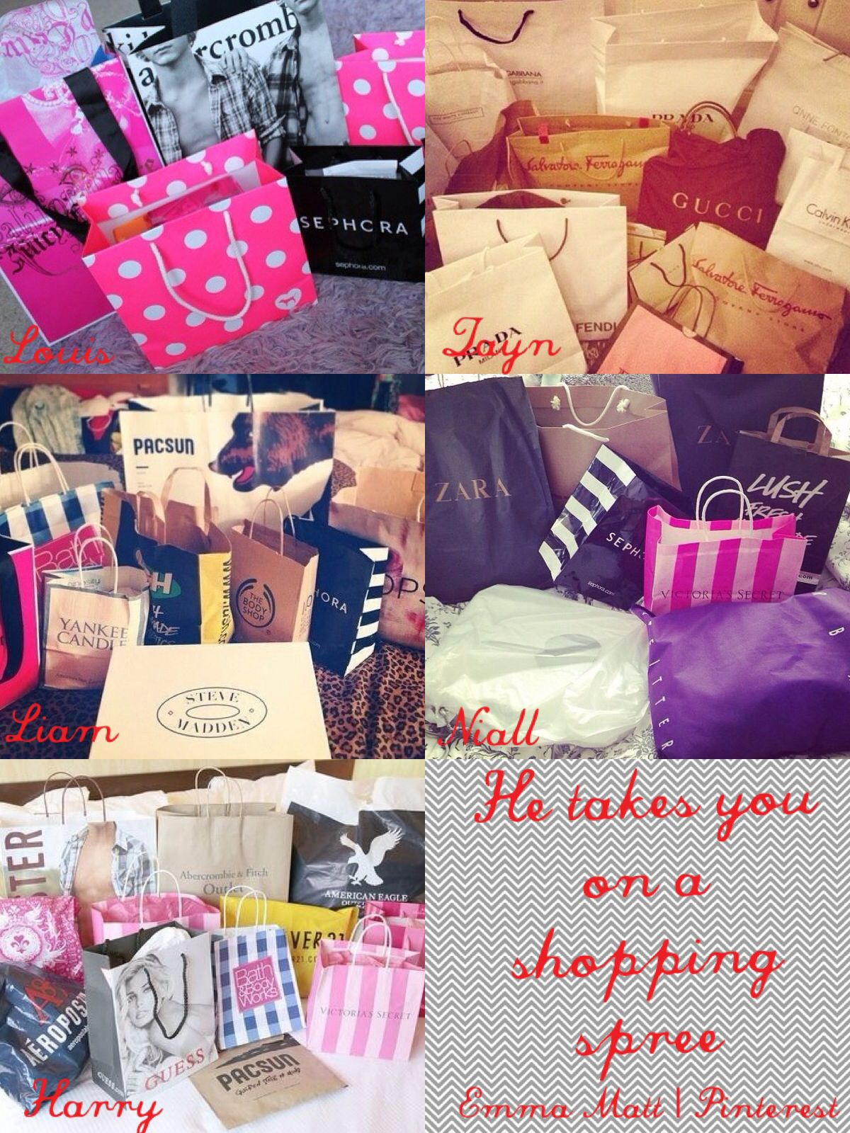 One direction Preference - He takes you on a shopping spree | One
