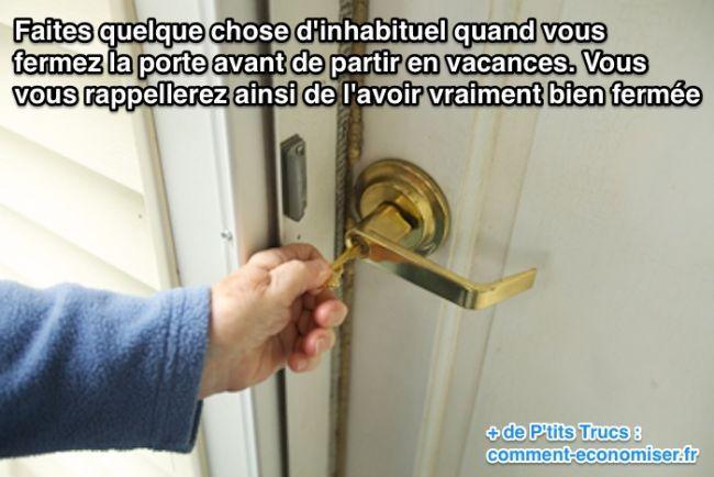Comment Être CERTAIN du0027Avoir Bien Fermé la Porte Quand On Part en - comment reparer un trou dans une porte