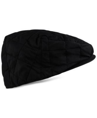 Tommy Hilfiger Men s Quilted Flat Cap - Black  b8c1030f8fb