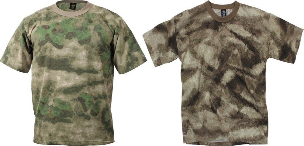 A-TACS FG AU Camouflage Military Tactical Short Sleeve T-Shirt  Rothco   TShirt 363457634267