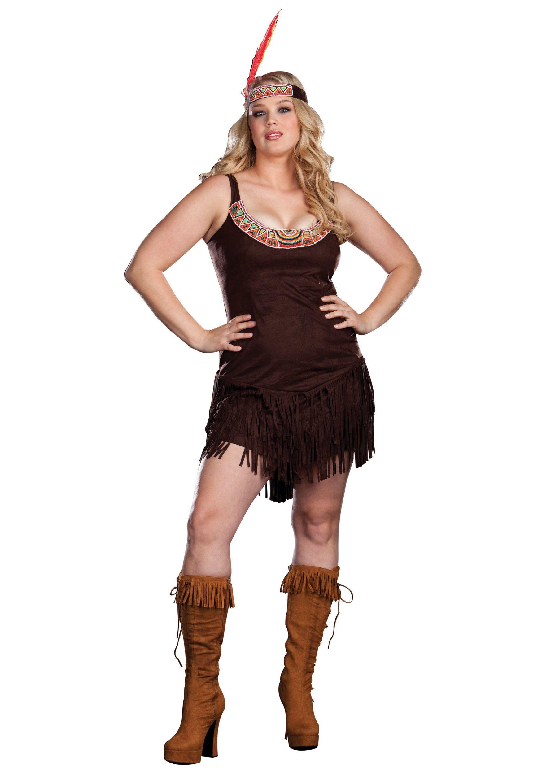 c2639d6f245 Plus Sexy Pocahontas Costume