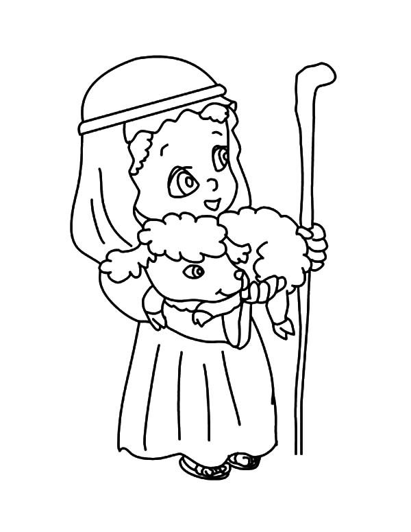 Free coloring pages of shepherd boy | Learning to draw ...