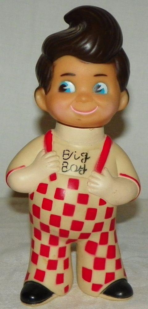 b9df117d4e9 Vintage Shoneys Bob s Big Boy Vinyl Bank Advertising 9 Inches Tall Taiwan