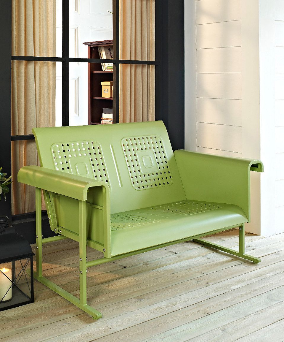 Another great find on #zulily! Crosley Oasis Green Veranda Love Seat ...