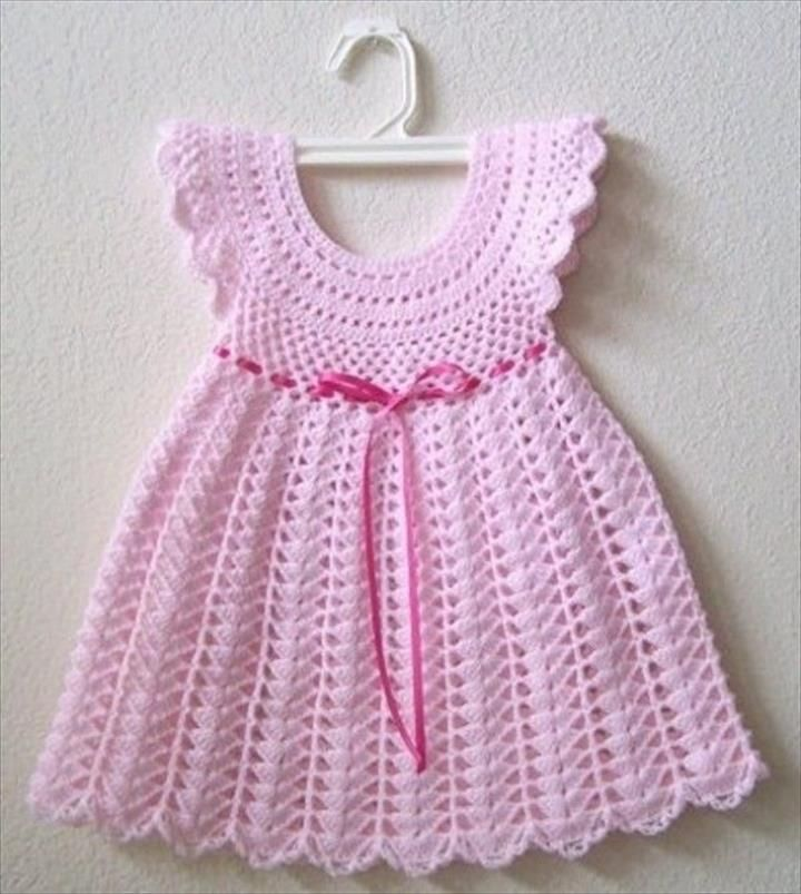 26 Gorgeous Crochet Baby Dress For Babies | Kinder häkeln ...