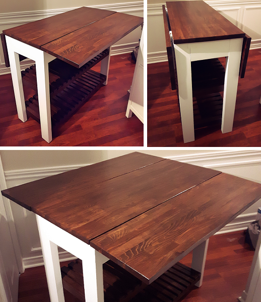 Ana White | Drop Leaf Kitchen Island   DIY Projects